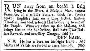Jul 22 - Providence Gazette Slavery 1