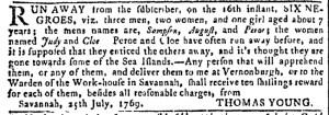 Jul 26 - Georgia Gazette Slavery 1