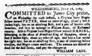 Jul 27 - Virginia Gazette Purdie and Dixon Slavery 4