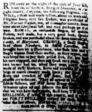 Jul 27 - Virginia Gazette Rind Slavery 7