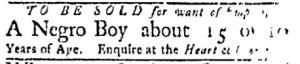 Jul 31 - Boston Evening-Post Slavery 2