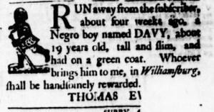 Aug 24 - Virginia Gazette Purdie and Dixon Slavery 5