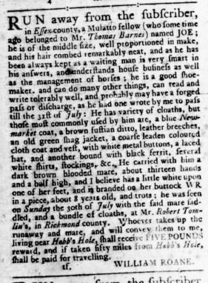 Aug 24 - Virginia Gazette Rind Slavery 9