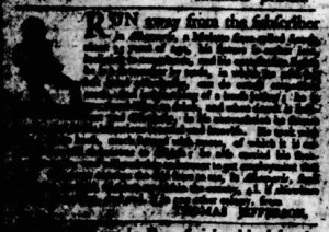 Sep 14 - Virginia Gazette Purdie and Dixon Slavery 1