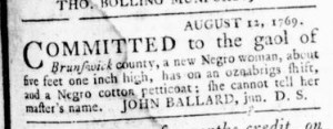 Sep 14 - Virginia Gazette Rind Slavery 2
