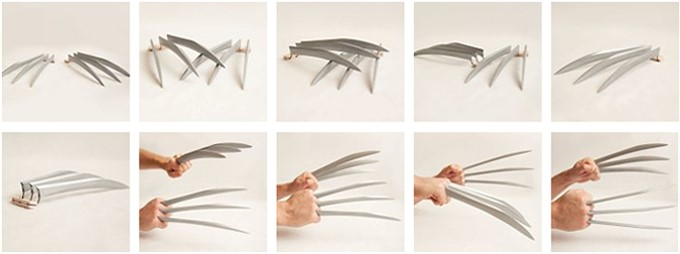 3 Ways to Make Origami Paper Claws - wikiHow | 254x680