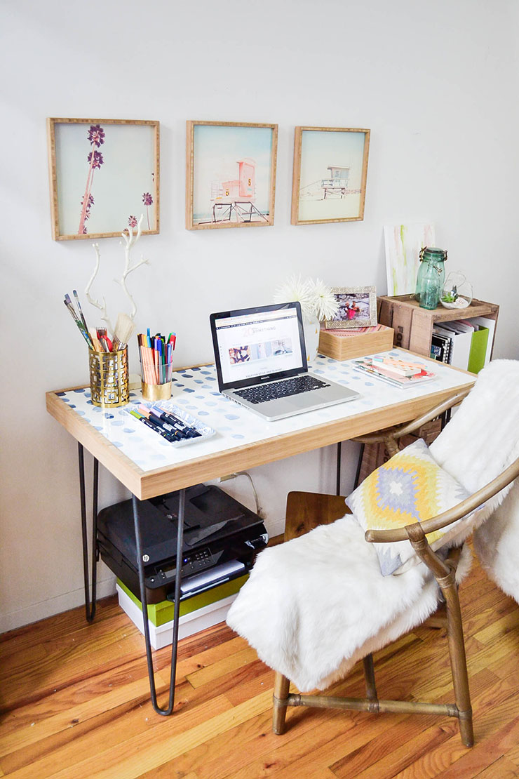 desk in living room apartment interior design photo gallery how to create a home office tiny small spaces