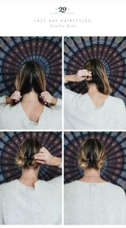 3 easy hairstyles lazy days