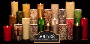 solare 3d virtual flameless candles for DIY at home spa story on advicesisters.com