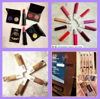 collage of new makeup launches Jan 2018