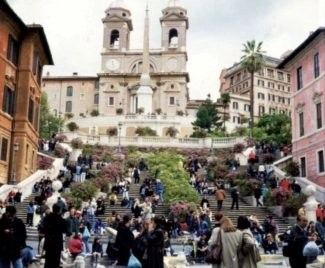 the famous Spanish Steps photo by suzanne lane