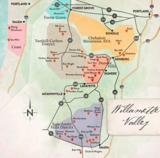 map of wilamette valley in oregon