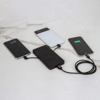 Limiatless Innovations chargehub go plus shown with devices charging