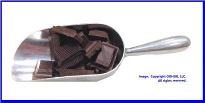 Scoop of chocolate