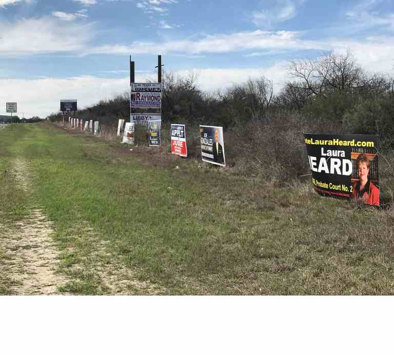 Are the political campaigns asking for permission to attach their signs to property owners fences?