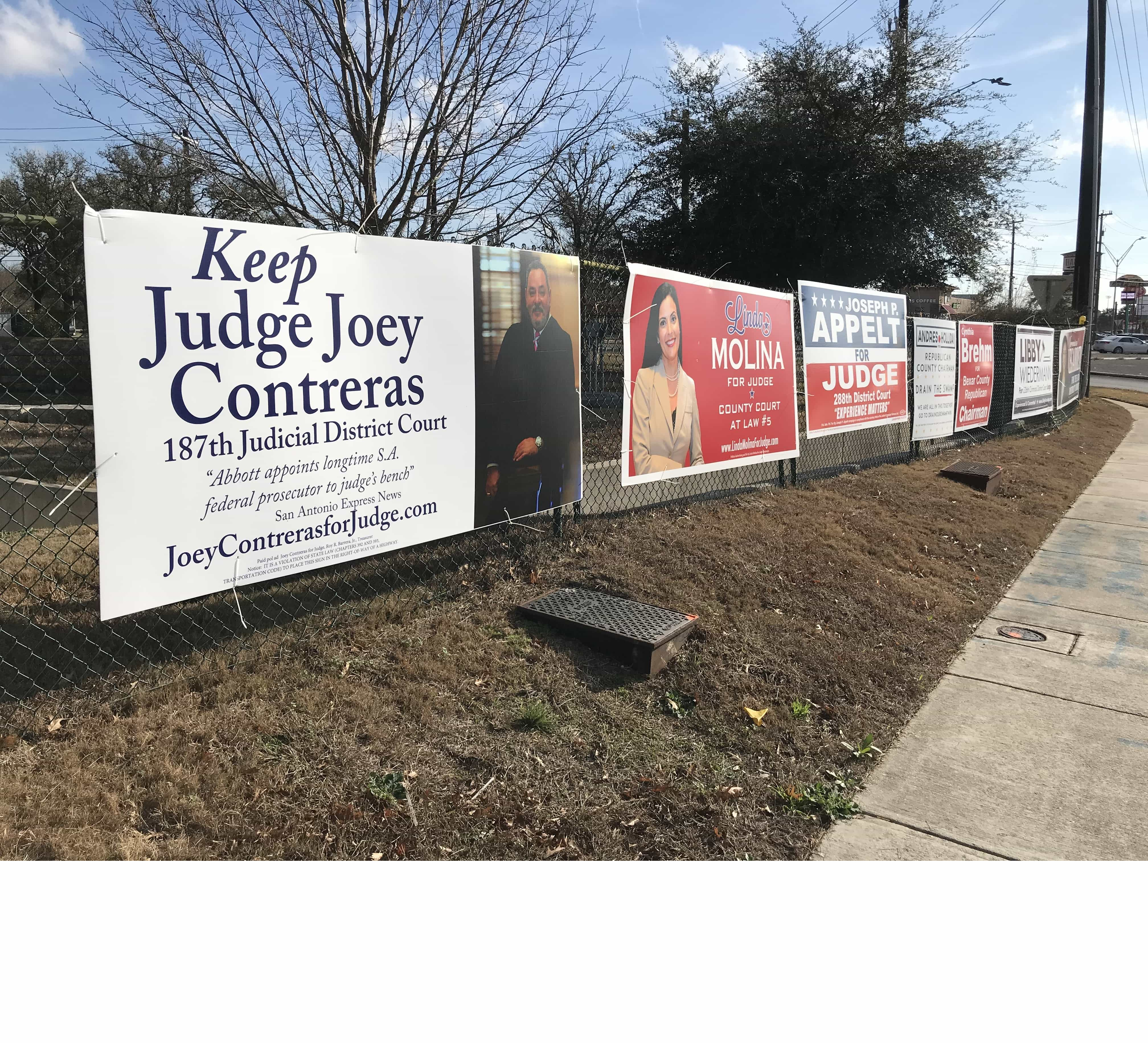 Signs Of Political On Fence To Save Them Money