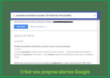 Les alertes Google pour collecter des informations utiles sur Internet