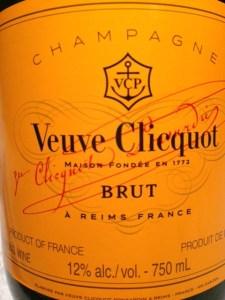 Veuve Clicquot Wine Label