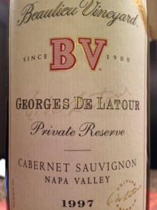 Bottle of BV georges de latour