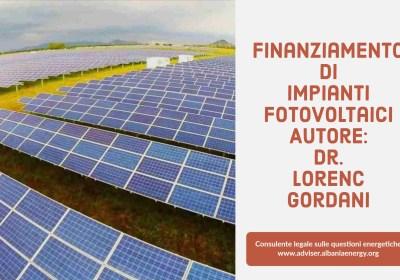 Il finanziamento dei sistemi fotovoltaici