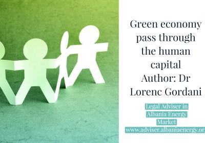 Green economy pass through the human capital