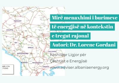 Tregu rajonal pritet te rrit efikasitetin e përdorimit të burimeve të energjisë