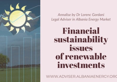 Financial sustainability issues of renewable investments