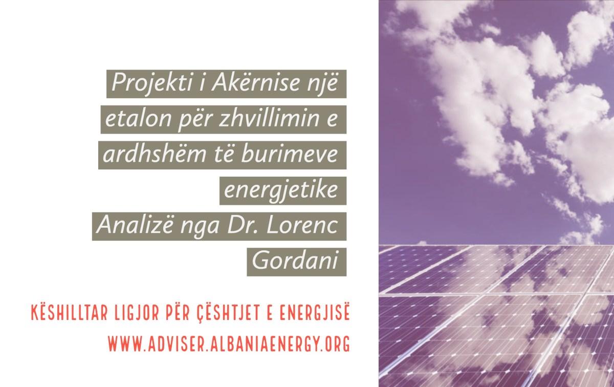 Projekti i Akërnise një etalon për zhvillimin e ardhshëm të burimeve energjetike