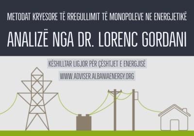 Metodologjitë kryesore të shpërblimit në monopolet në energjetikë
