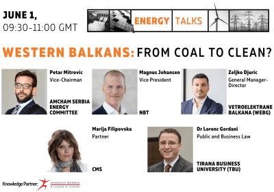 "Energy Talk on Western Balkans ""Western Balkans: from coal to clean?"""