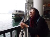 Friend Giselle in Hongkong Port