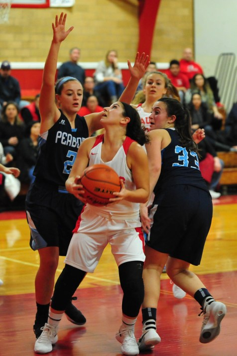 Junior Captain Alessia Salzillo lead the Sachems' offense against Peabody with 17 points.