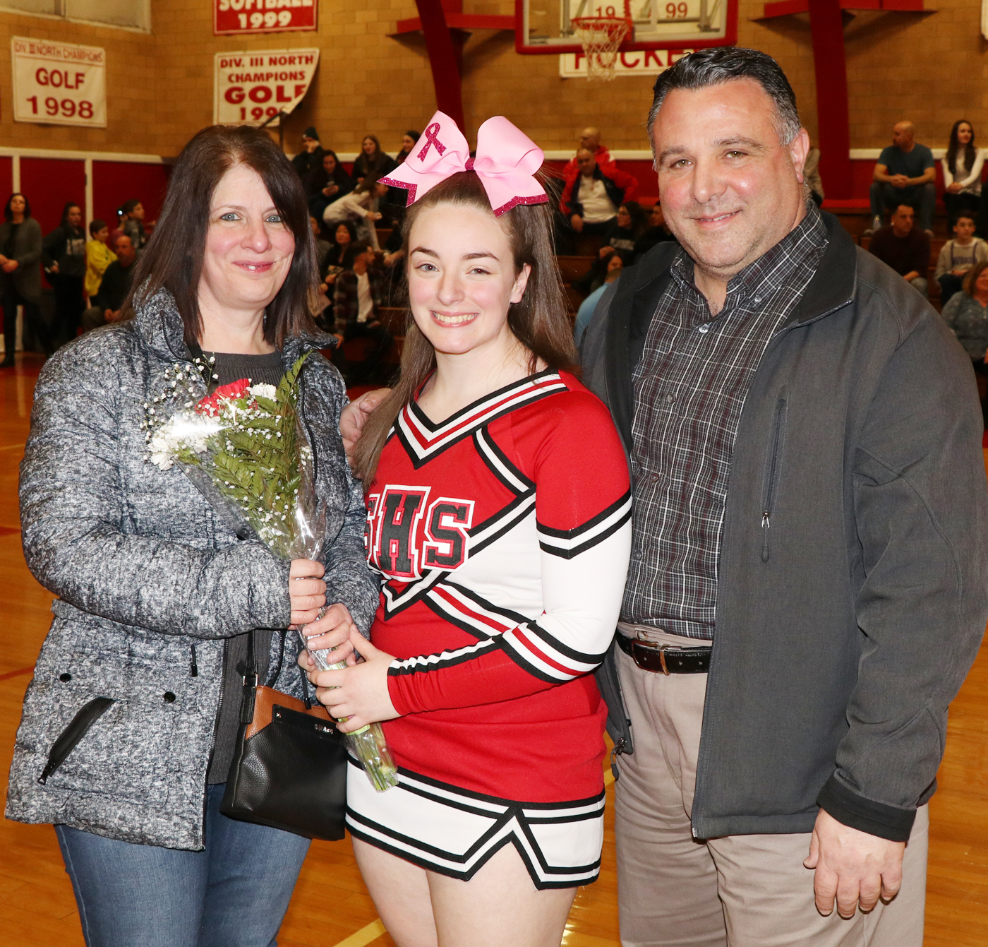 Briana Forgione with her parents, Linda and Rich