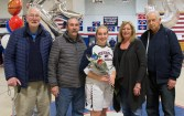 Mackenzie Cunningham with family Debbie, Patrick, grandfathers, Frank Cunningham and Richard Segee.