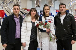 Captain Valentina Pepic with parents, Velimir and Milena and her brother, Mladen.