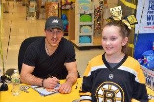 Brad Marchand with Grace Hallissey