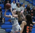 Peabody's Aja Alimonti leans in for a shot during last Friday's junior varsity win over Beverly.
