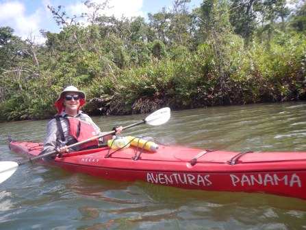 Robert Miller during his recent 55-mile trip through the Panama Canal. (Courtesy Photos)