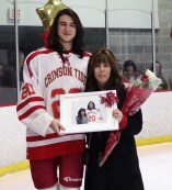 #20 Asst. Captain Kevin O'Brien with his mom, Jacqueline