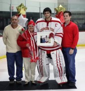 #1 Captain Brendan Calderon with his parents, Ed and Lisa, and brother, Daniel
