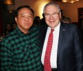Jason Lam with Speaker of the House Robert DeLeo