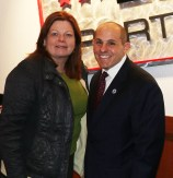 Malden Councillor Peg Crowe and State Representative Steven Ultrino.