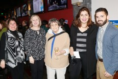 Friends and supporters, Candice Juylan, Maria Luise, Nancy Free, Habba Idrissi and Ryan O'Malley