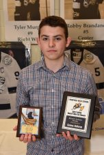CAL 2017-2018 FIRST TEAM ALL STAR HOCKEY & BIGGEST AWARD: George DeRoche