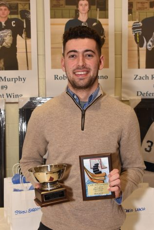 LHS 2017-2018 Varsity Hockey Taylor Award & CAL 2017-2018 First Team All Star Hockey player Joseph Mack