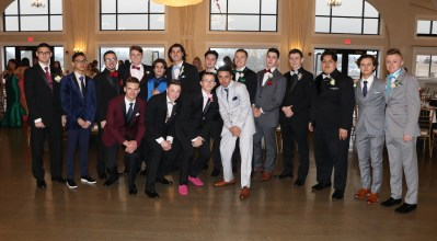 These gentlemen clean up real fine to attend the prom last Thursday night. BTW, who says pink shoes are not formal wear?