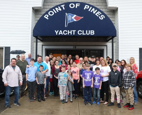 Members and friends joined Mason Wetmore and his family at the Point of Pines Yacht Club for a brunch to benefit the Crohn's & Colitis Foundation.