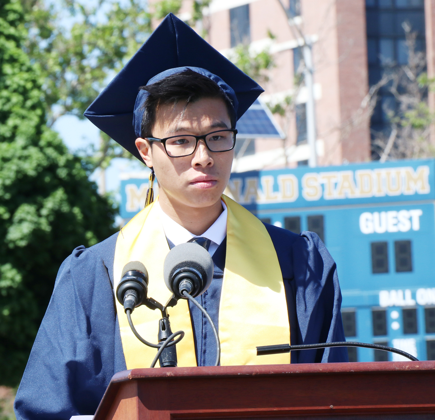 Top in his class, MHS Valedictorian Matthew Chin.