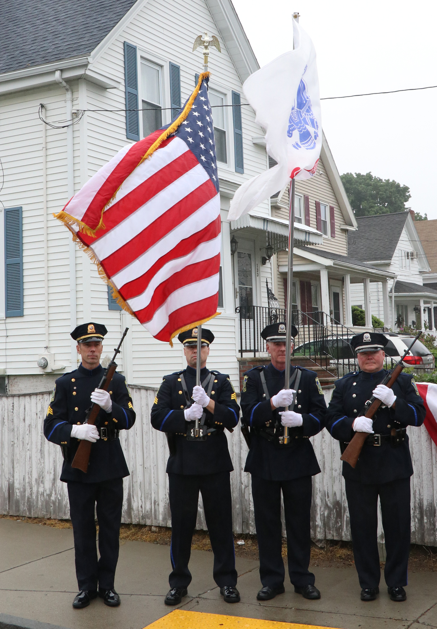 Malden Police Dept. Honor Guard.