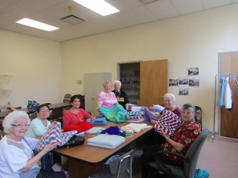 The Rossetti-Cowan Senior Center's Knitters That Care group are always giving back to the community – using their talents to make blankets, prayer shawls, helmet caps, and other items for those in need. In this picture the ladies have made blankets and shawls that are being donated for the residents at the Lighthouse Nursing Care facility. Sue Colella, Kay Morani, Iris D'Ana, Tina Vera, Georgina Laranjaria, Lucy McGrath, and Tina Notaro display some of their awesome creations. (Photos courtesy of Camille Picciani-Ciambelli)